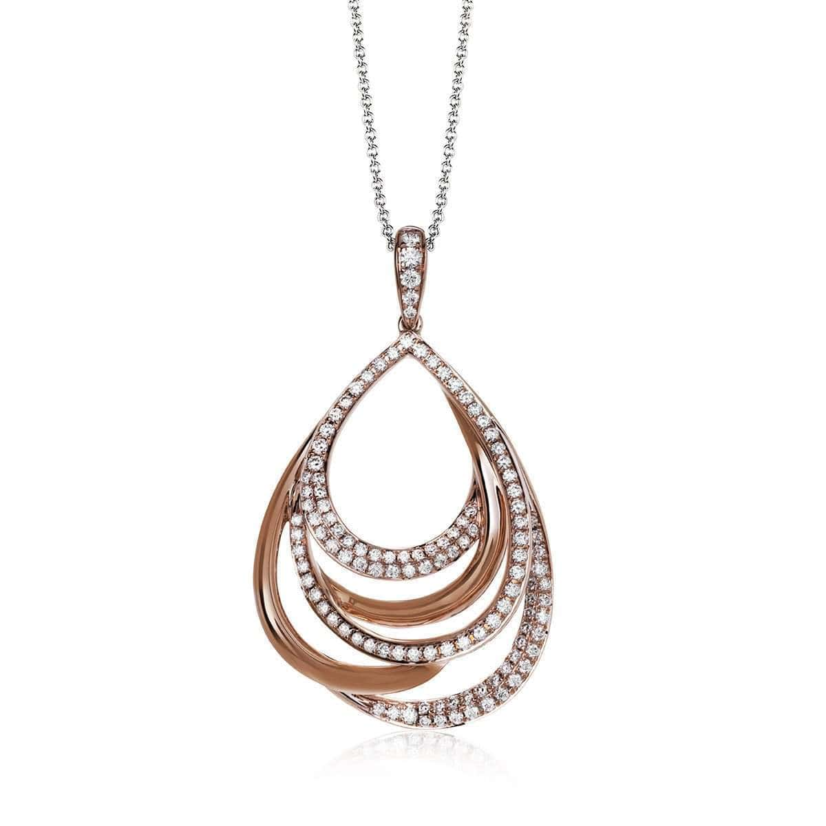 18K Rose Gold Round Diamonds Pendant - MP2022-R-Simon G.-Renee Taylor Gallery