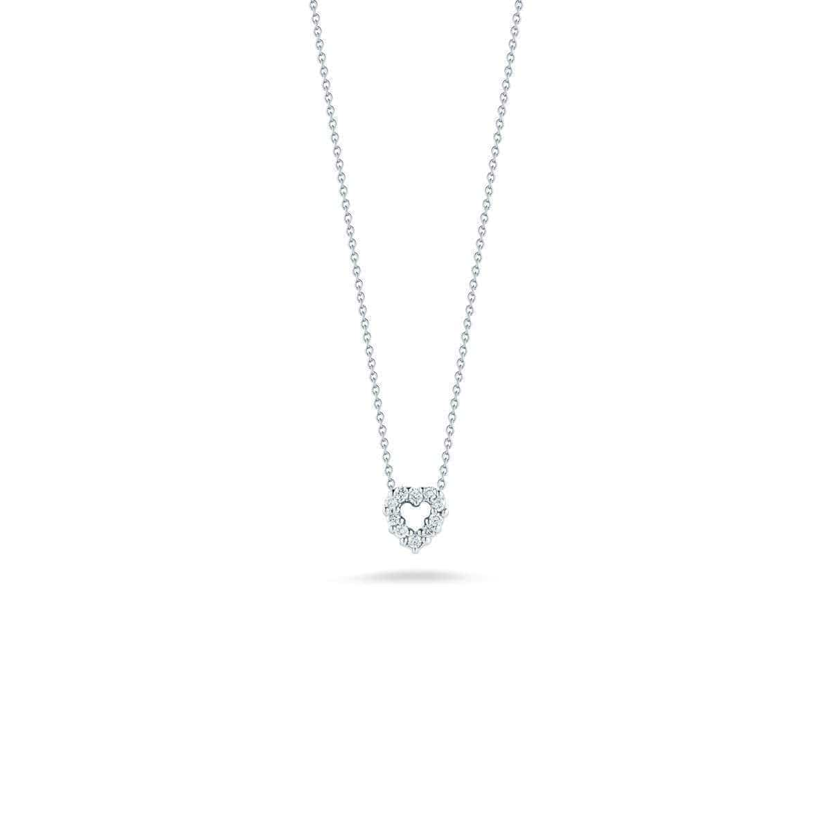 18k White Gold & Diamond Baby Heart Necklace - 001616AWCHX0-Roberto Coin-Renee Taylor Gallery