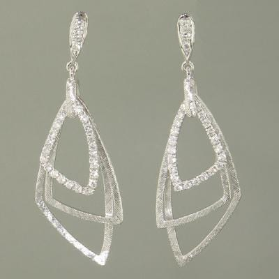 18k White Gold & Diamond Earrings - E0557-WG-Jayne New York-Renee Taylor Gallery