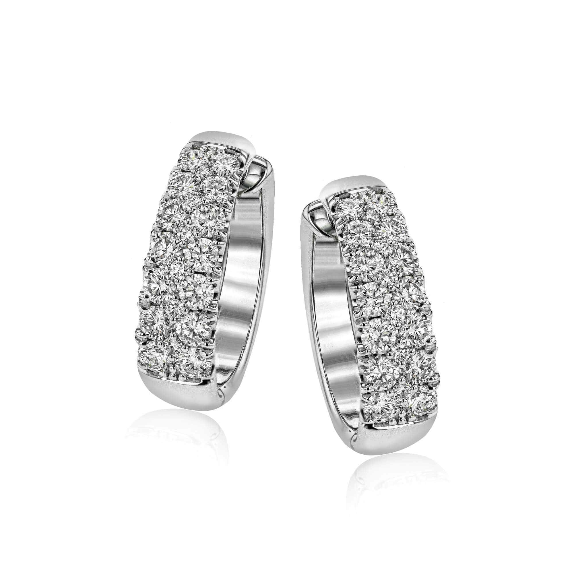 18k White Gold & Diamond Earrings - LE4391-Simon G.-Renee Taylor Gallery