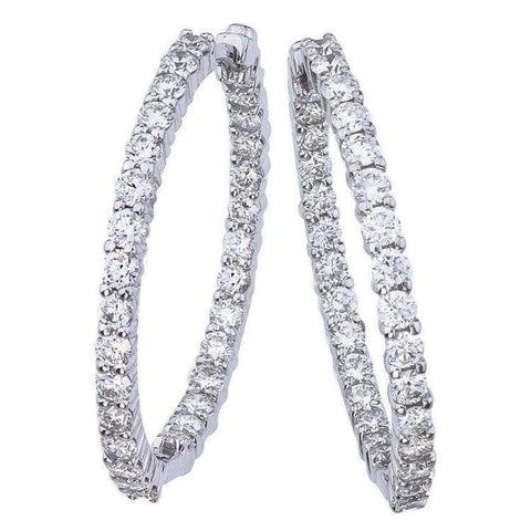 18k White Gold & Diamond Earrings - 001614AWERX0-Roberto Coin-Renee Taylor Gallery