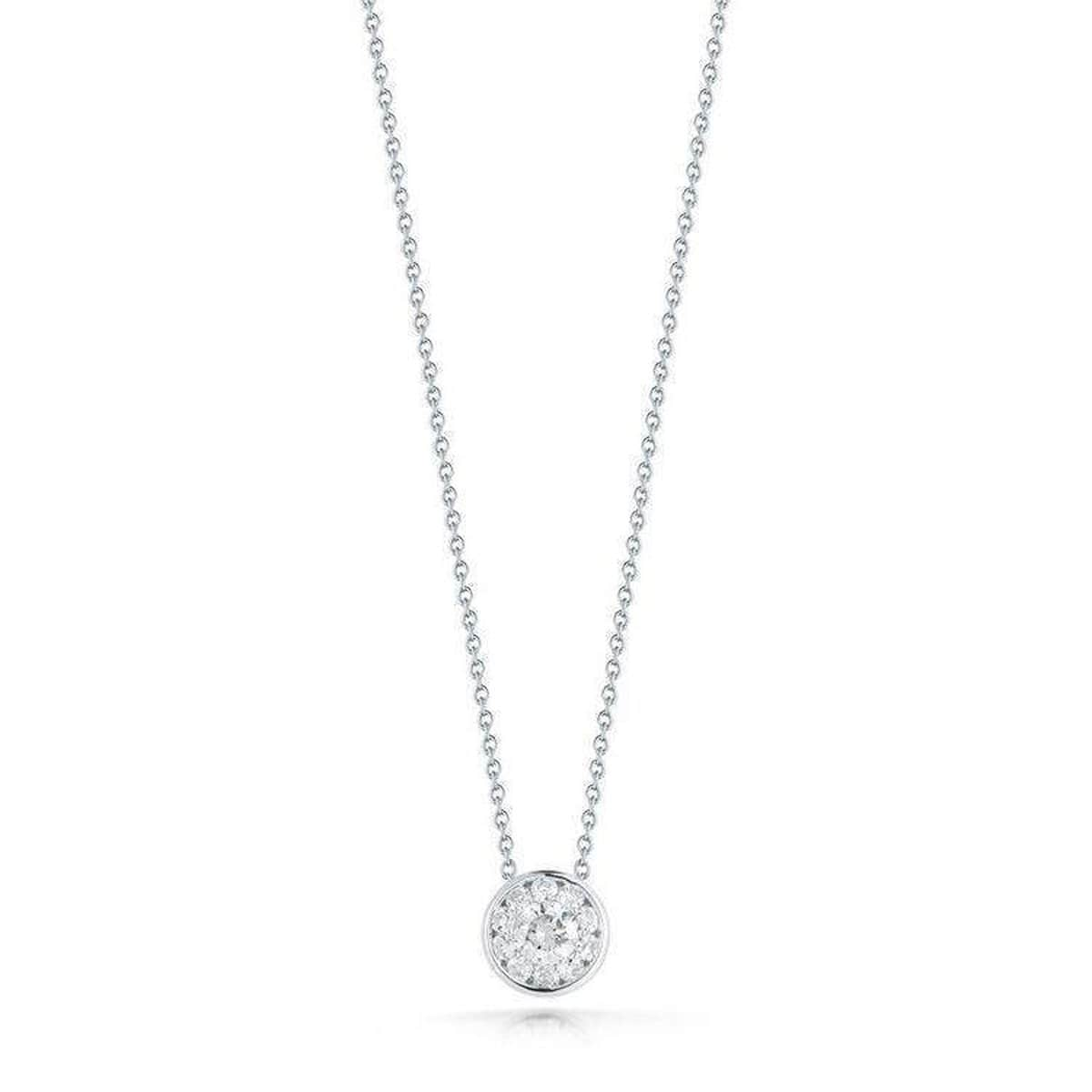 18k White Gold & Diamond Necklace - 518150AWCHX0-Roberto Coin-Renee Taylor Gallery