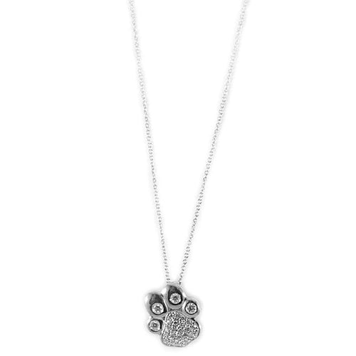 18k White Gold & Diamond Paw Necklace - 000944AWCHX0-Roberto Coin-Renee Taylor Gallery