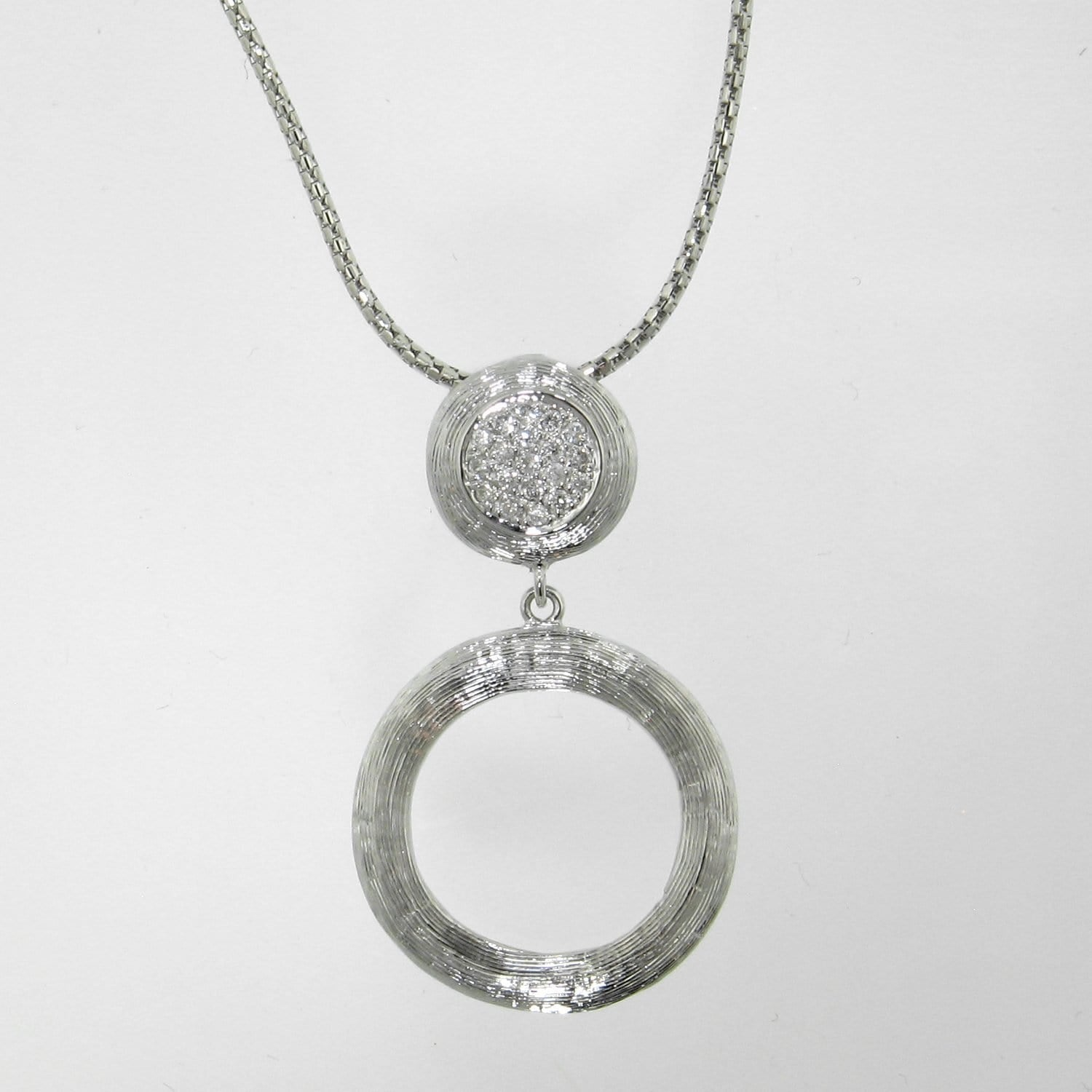 18k White Gold & Diamond Pendant - 560PD-WG-Jayne New York-Renee Taylor Gallery