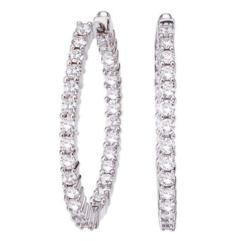 18k White Gold & Diamond Earrings - 001613AWERX0-Roberto Coin-Renee Taylor Gallery