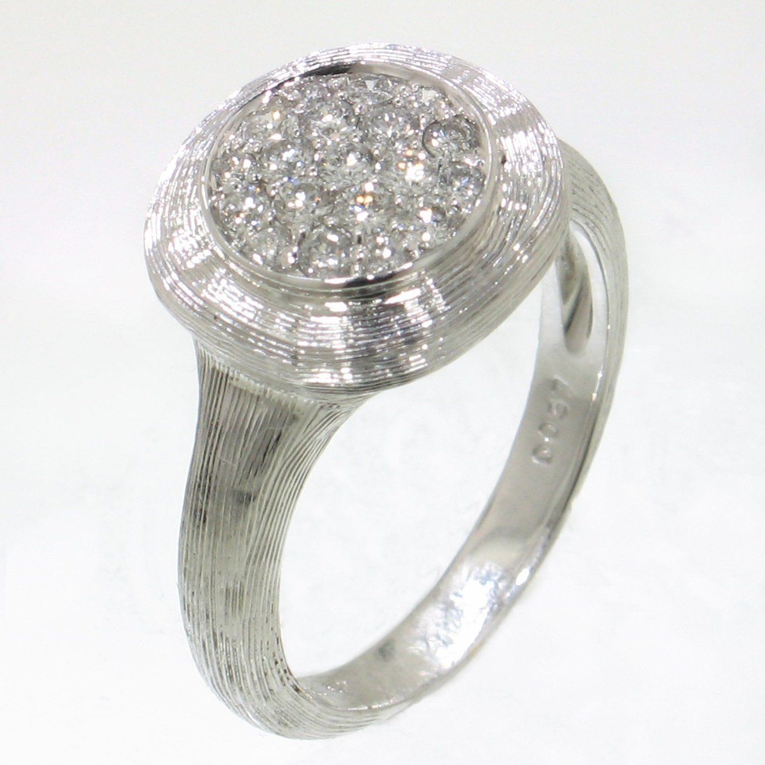 18k White Gold & Diamond Ring - 495-WH