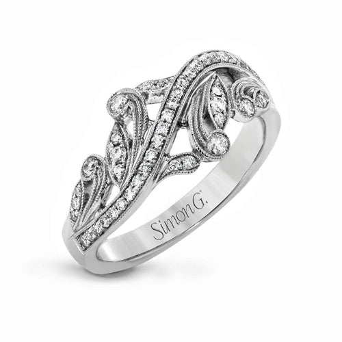 18k White Gold & Diamond Ring - TR645-W-Simon G.-Renee Taylor Gallery