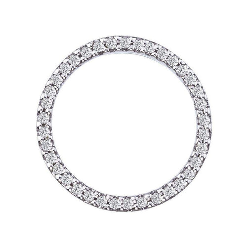 18k White Gold & Diamond Circle Necklace - 001259AWCHX0-Roberto Coin-Renee Taylor Gallery