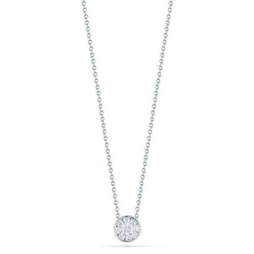18k White Gold & Diamond Necklace - 518151AWCHX0-Roberto Coin-Renee Taylor Gallery
