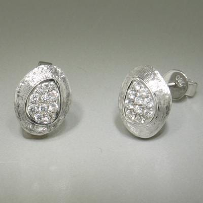 18k White Gold & Diamond Stud Earrings - E0068-WG-Jayne New York-Renee Taylor Gallery