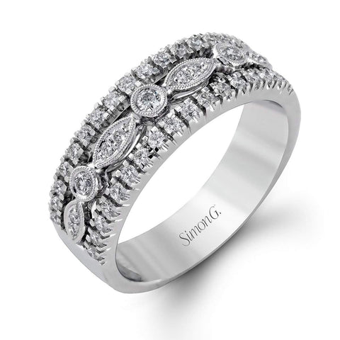 18K White Gold Fashion Paisley Band Ring - MR1174-W-Simon G.-Renee Taylor Gallery