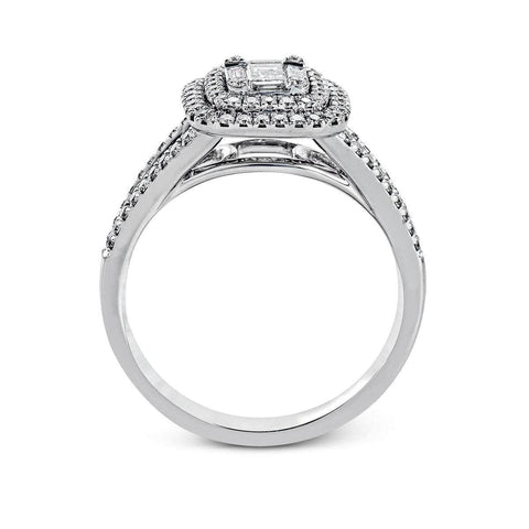 18K White Gold Round Diamonds Ring - MR2610-W-Simon G.-Renee Taylor Gallery