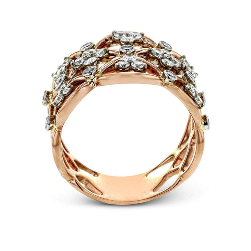 18k White & Rose Gold Band Ring - LR1090-WR-Simon G.-Renee Taylor Gallery