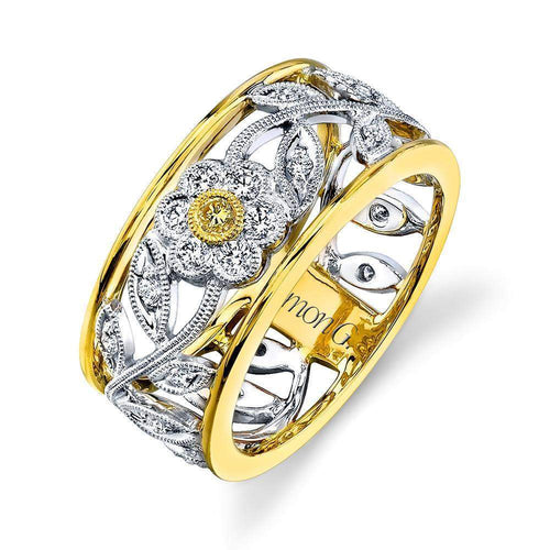 18k White & Yellow Gold Diamond Ring - MR1000-D-YW-Simon G.-Renee Taylor Gallery