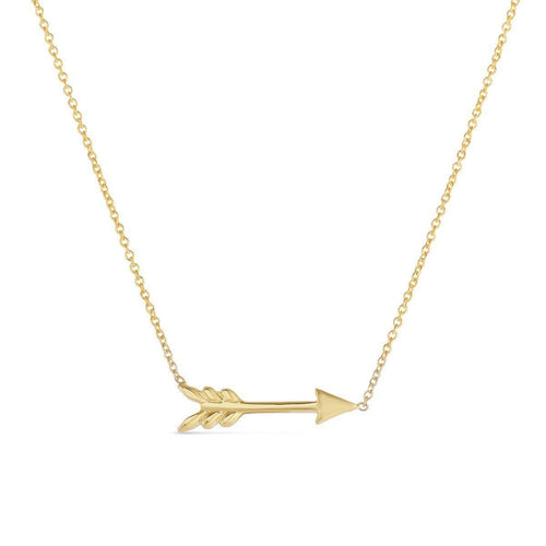 18k Yellow Gold Arrow Necklace - 000047AYCH00-Roberto Coin-Renee Taylor Gallery