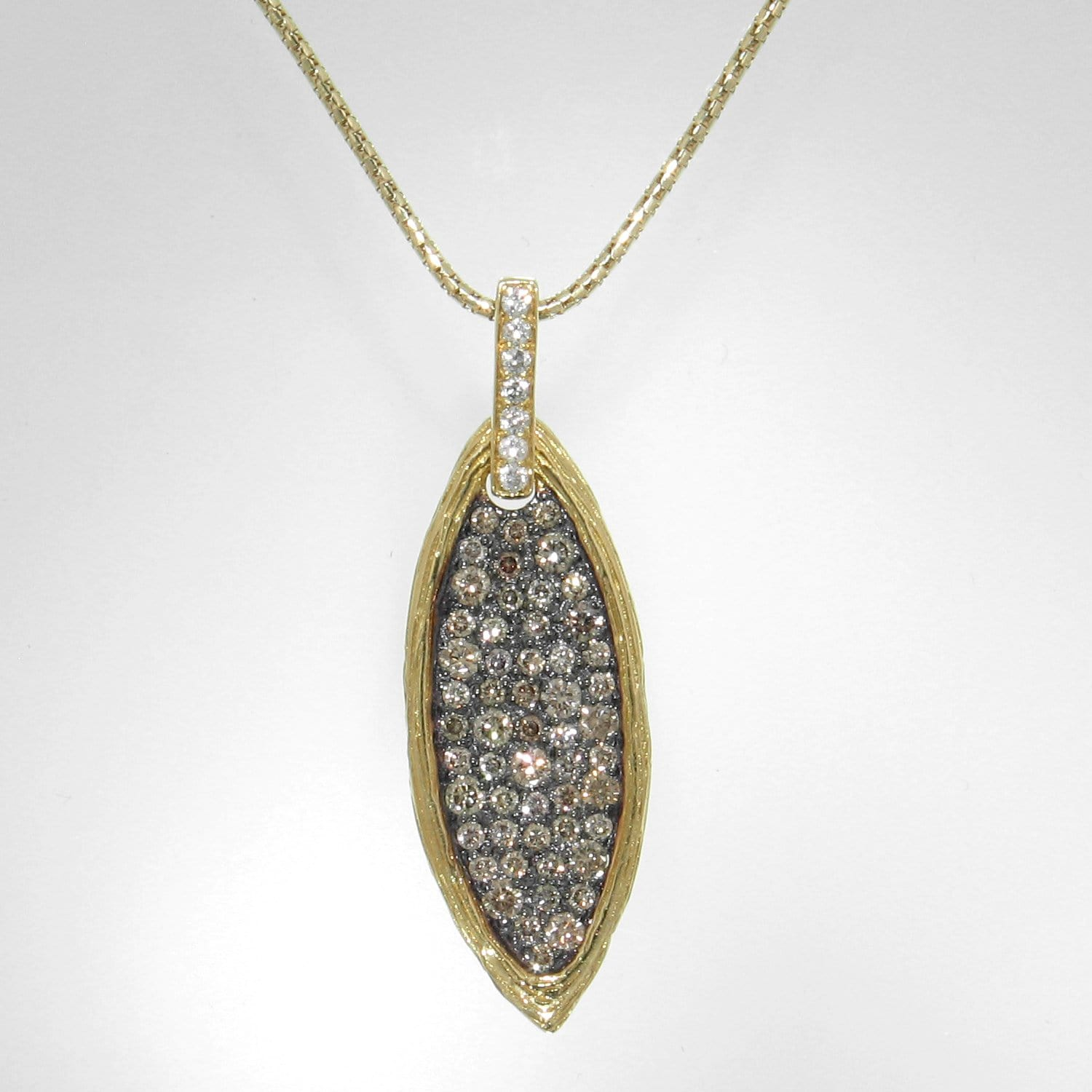 18k Yellow Gold & Brown Diamond Pendant - 297NC-YG-br-Jayne New York-Renee Taylor Gallery