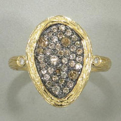 18k Yellow Gold & Brown Diamond Ring - 508H-YG-br-Jayne New York-Renee Taylor Gallery