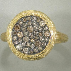 18k Yellow Gold & Brown Diamond Ring - 509H-YG-br-Jayne New York-Renee Taylor Gallery