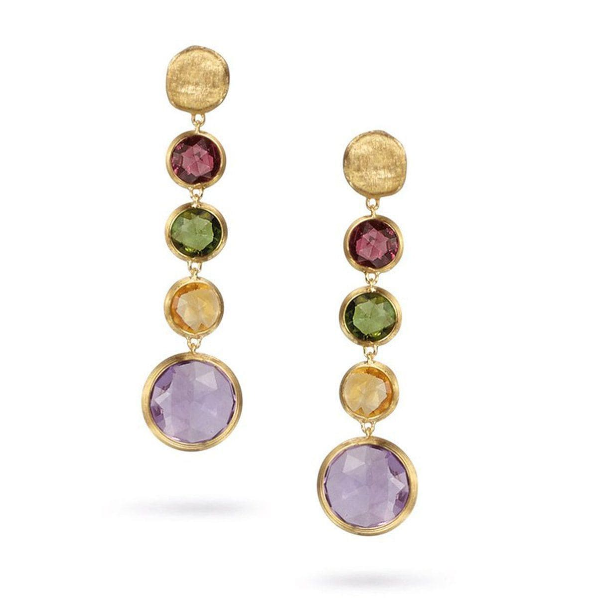 Jaipur Circle Mixed Gemstone Drop Earrings - OB901 MIX01 Y-Marco Bicego-Renee Taylor Gallery