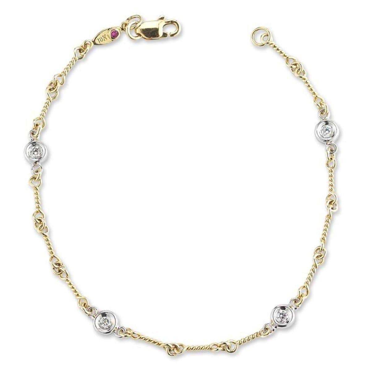 18k Yellow Gold & Diamond Bracelet - 001824AJLBX0
