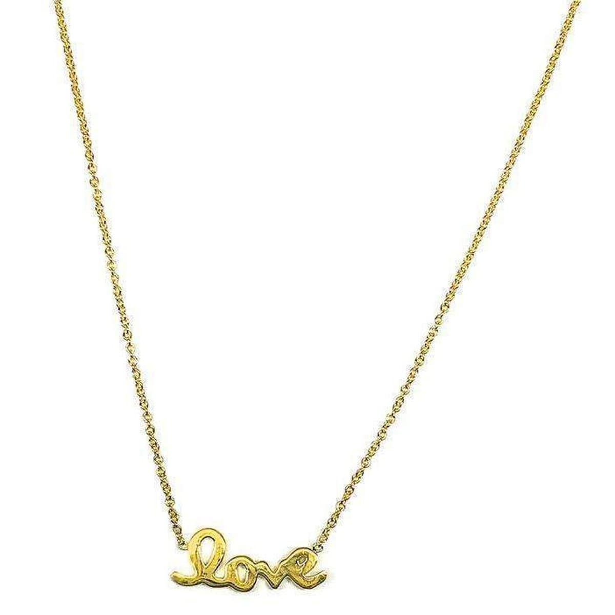 18k Yellow Gold & Diamond Love Necklace - 000995AYCH00-Roberto Coin-Renee Taylor Gallery
