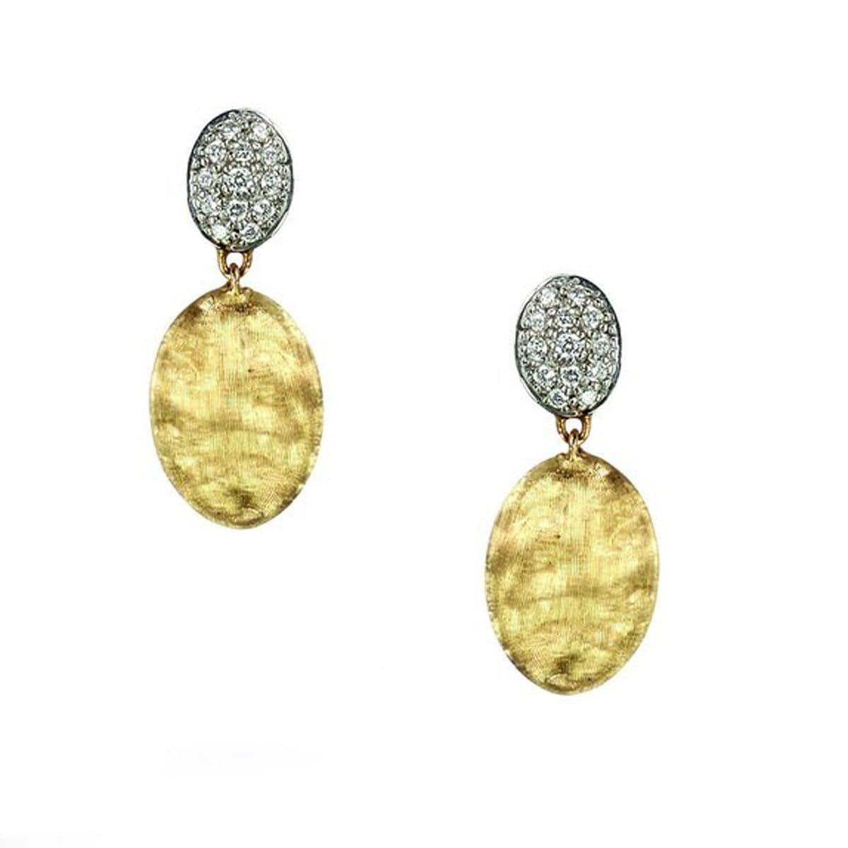 Siviglia Diamond Pave Drop Earrings - OB1289 B YW-Marco Bicego-Renee Taylor Gallery