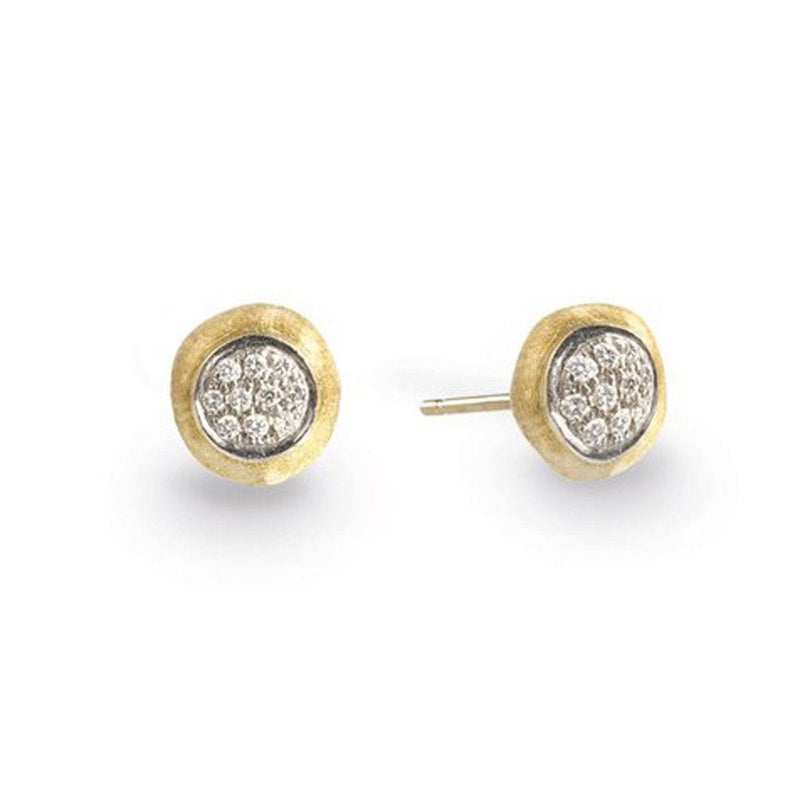 18K Delicati Diamond Pave Stud Earrings - OB1377 B YW-Marco Bicego-Renee Taylor Gallery