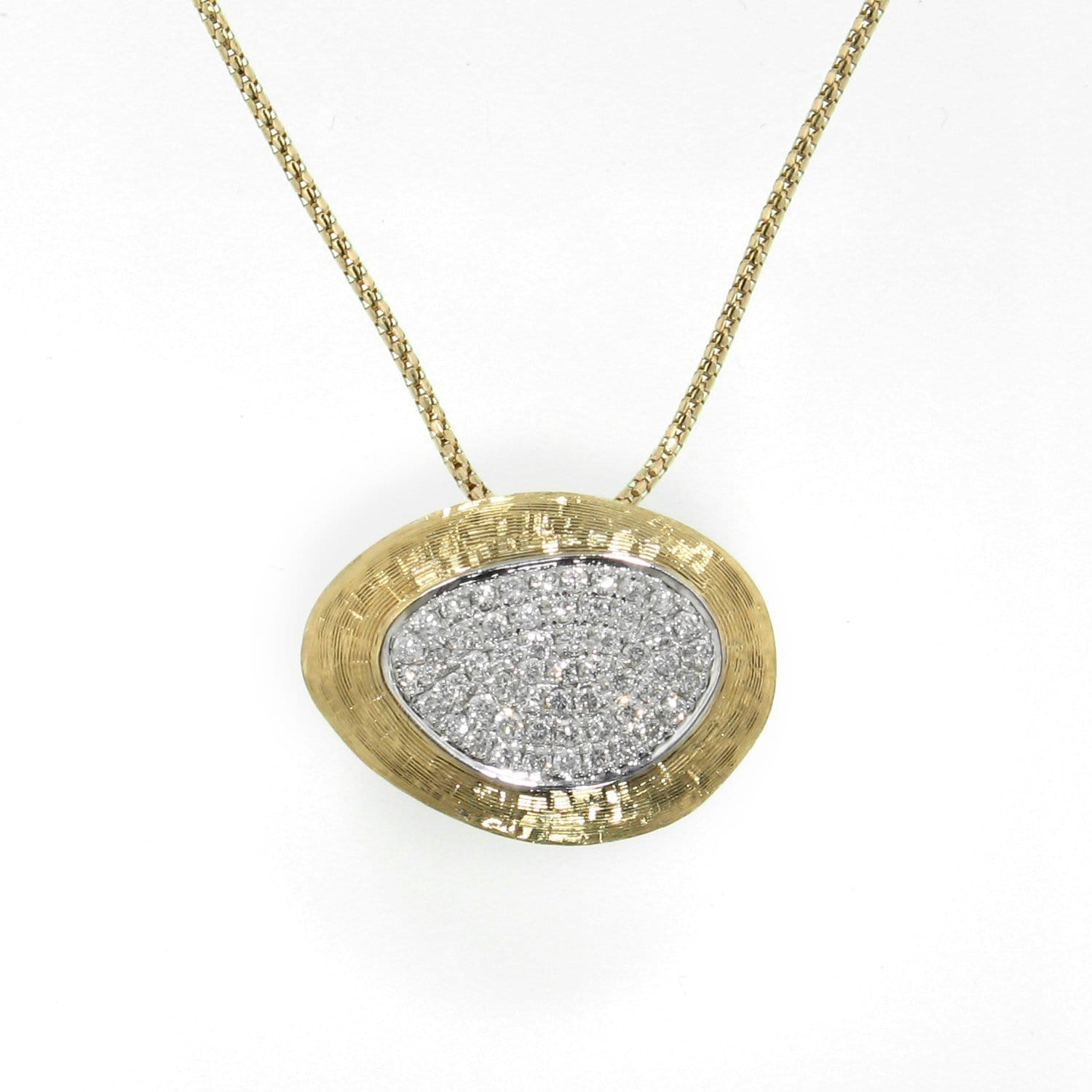 18k Yellow Gold & Diamond Pendant - 581PD-YG