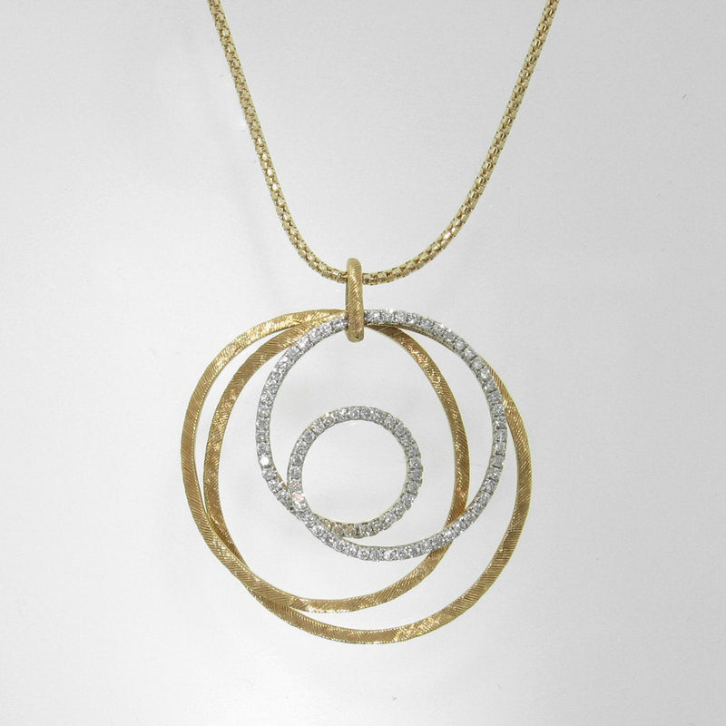18k Yellow Gold & Diamond Pendant - 987PD-YG-Jayne New York-Renee Taylor Gallery