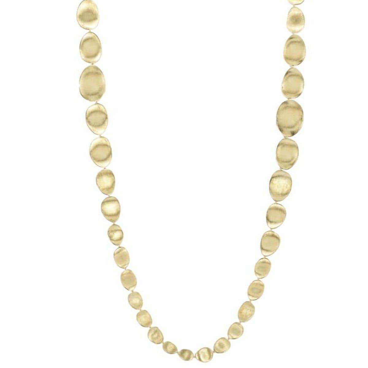 "18K Lunaria Medium Double Wave Necklace - CB1885 Y 39.25""-Marco Bicego-Renee Taylor Gallery"