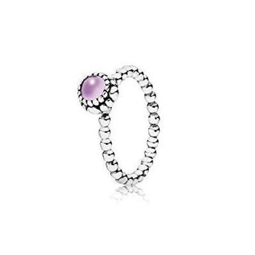 Birthday Blooms February Amethyst Ring - 190854AM-Pandora-Renee Taylor Gallery