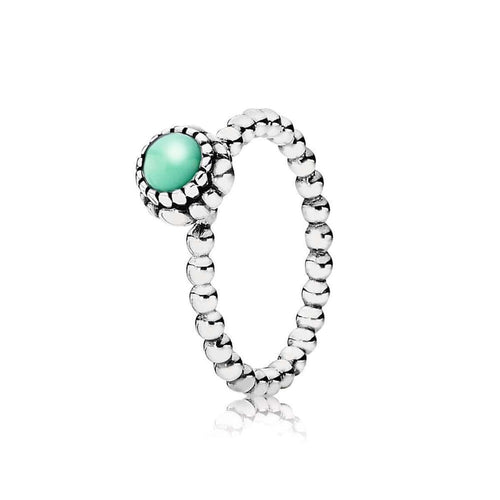 Birthday Blooms May Chrysoprase Ring - 190854CH-Pandora-Renee Taylor Gallery