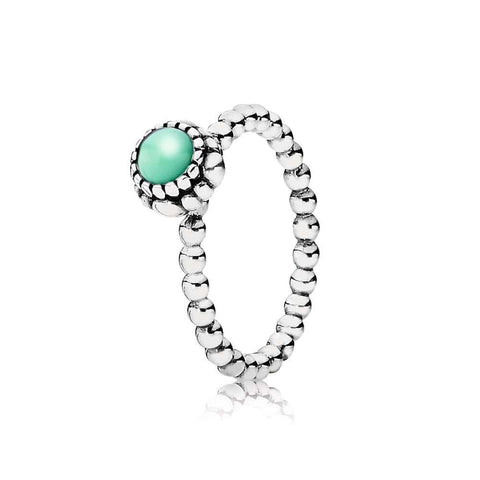 Birthday Blooms May Chrysoprase Ring - 190854CH - Pandora