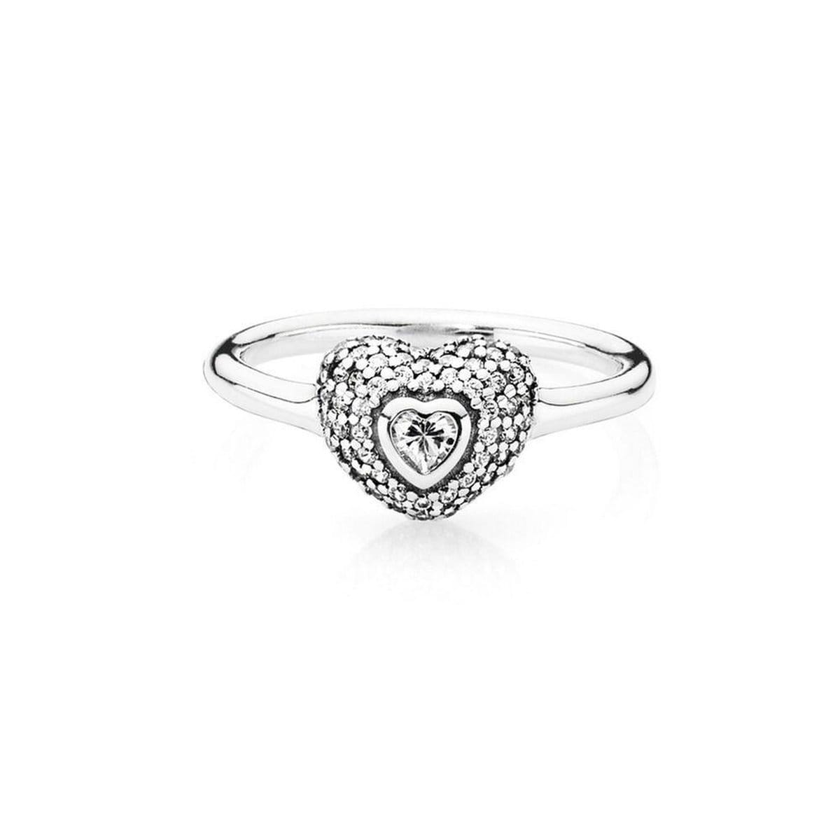 In My Heart Clear Cubic Zirconia Ring - 190877CZ-Pandora-Renee Taylor Gallery