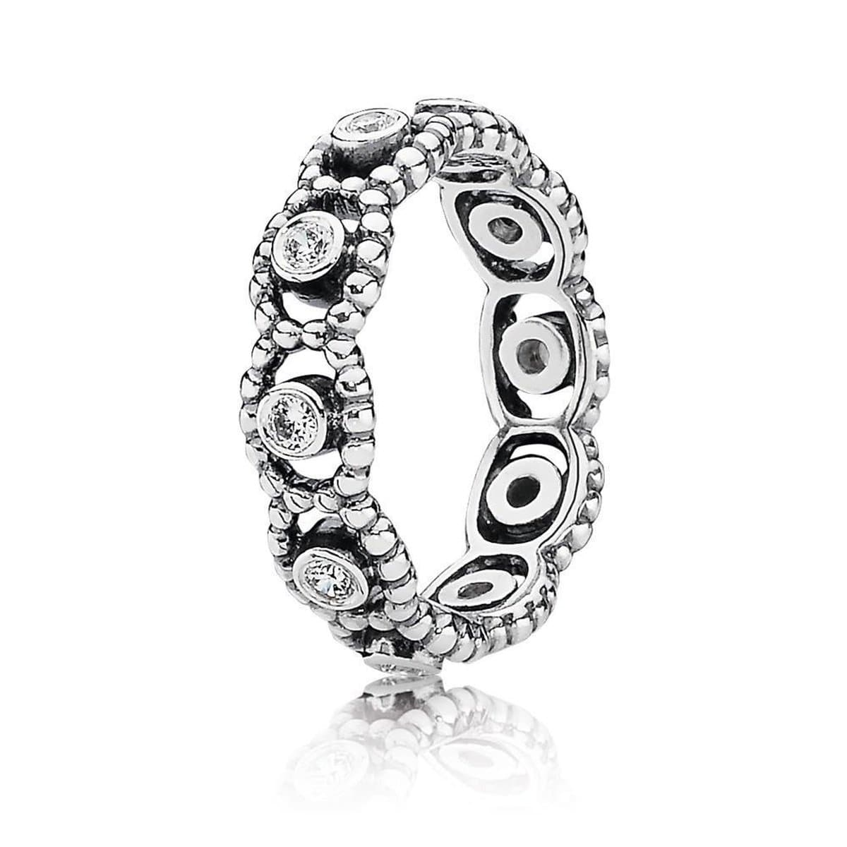 Her Majesty Clear Cubic Zirconia Ring - 190881CZ-Pandora-Renee Taylor Gallery