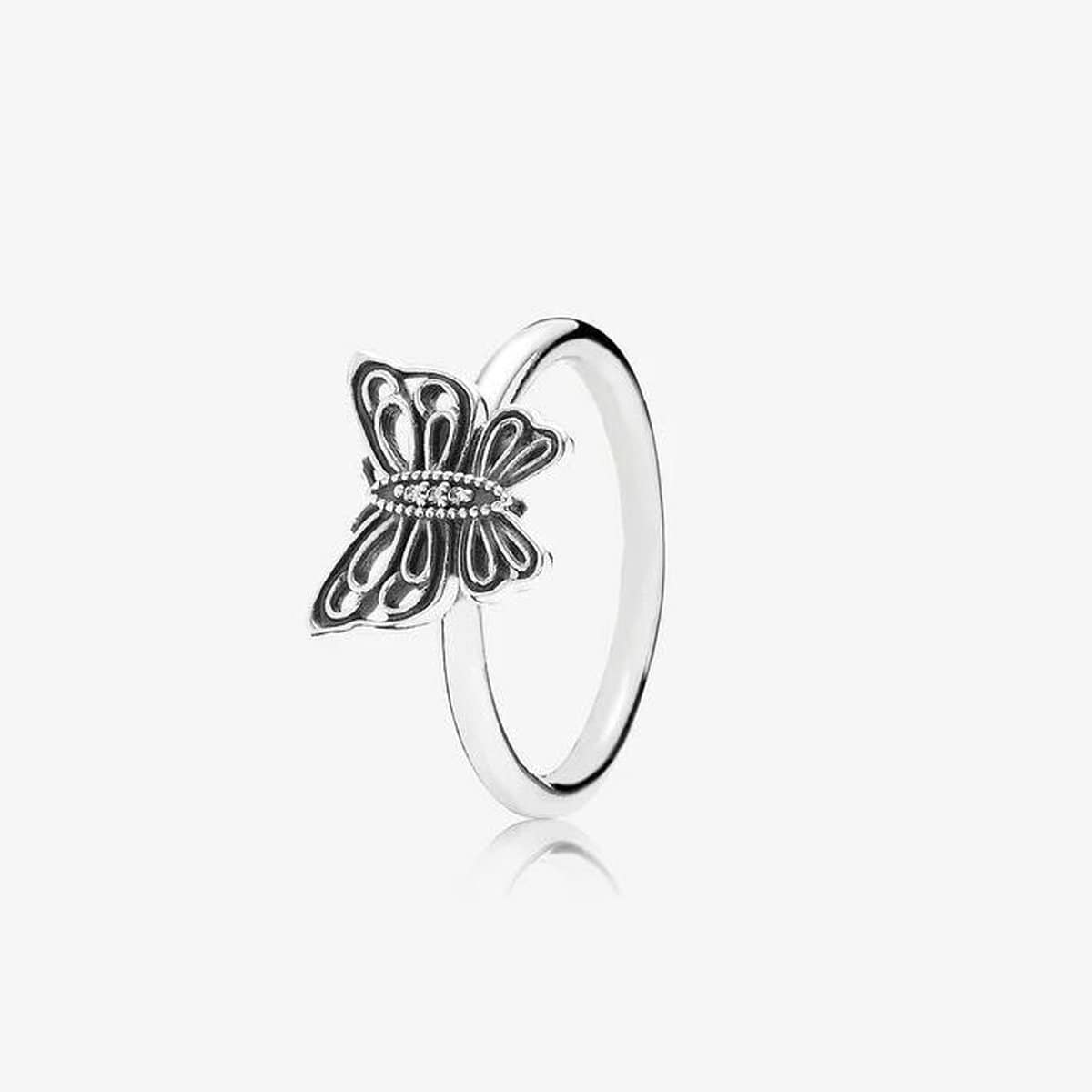 Love Takes Flight Clear Cubic Zirconia Ring - 190901CZ-Pandora-Renee Taylor Gallery