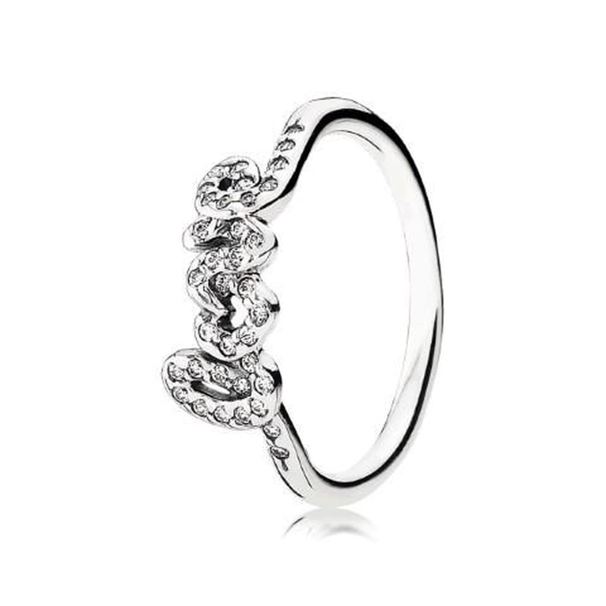 Signature of Love Clear Cubic Zirconia Ring - 190928CZ-Pandora-Renee Taylor Gallery