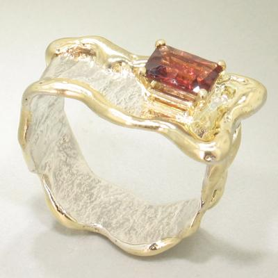 14K Gold & Crystalline Silver Garnet Ring - 19622-Fusion Designs-Renee Taylor Gallery