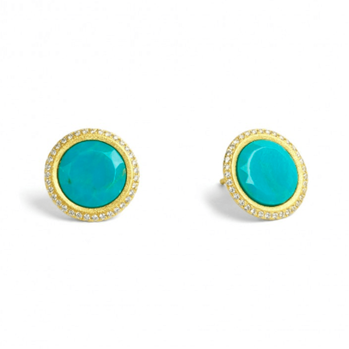 Tisanni Blue Turquoise Pin Earrings - 19804256-Bernd Wolf-Renee Taylor Gallery
