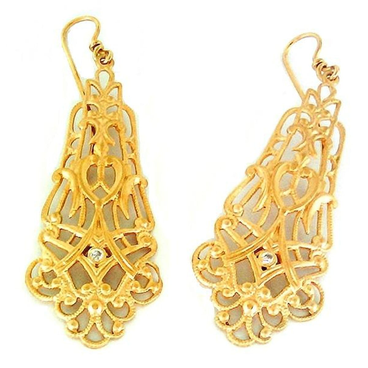 Marika Diamond & 14k Gold Earrings - M2008-Marika-Renee Taylor Gallery