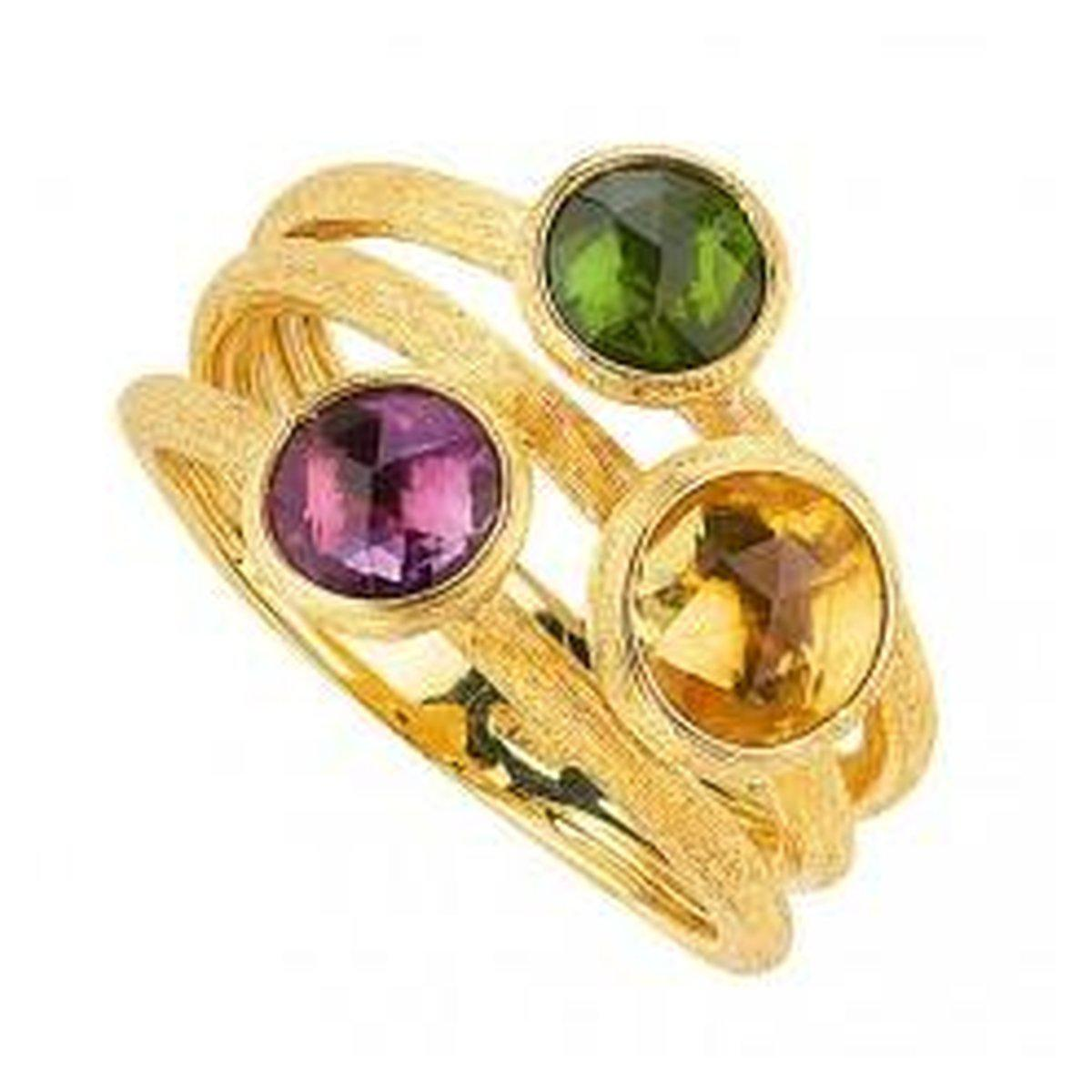 18K Jaipur Amethyst Citrine Tourmaline Ring - AB474 MIX208 Y-Marco Bicego-Renee Taylor Gallery