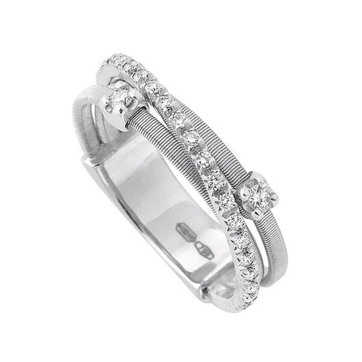 18K Goa 3 Row Diamond Ring - AG269 B2 W