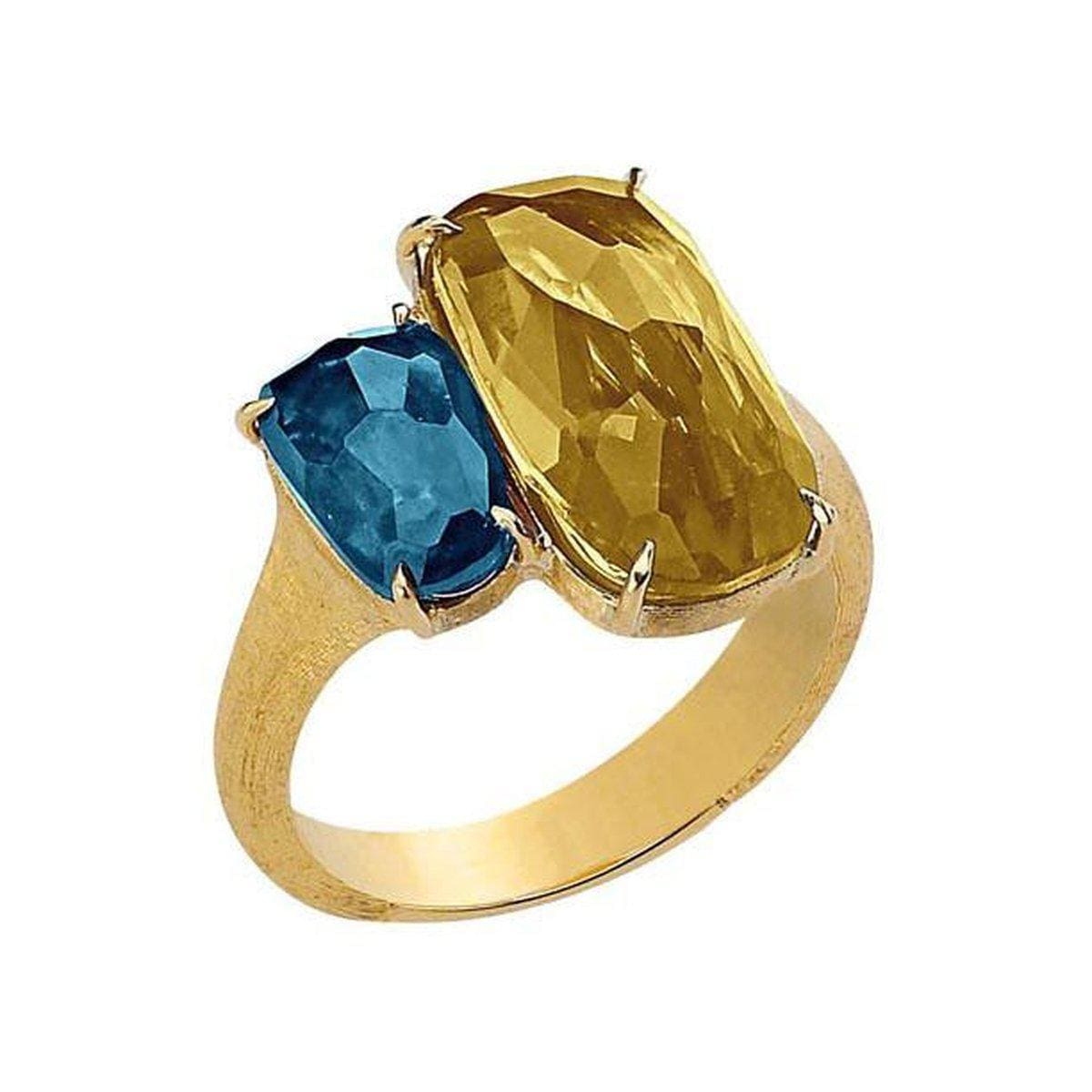 18K Murano White Topaz Yellow Quartz Ring - AB506 MIX112 Y-Marco Bicego-Renee Taylor Gallery