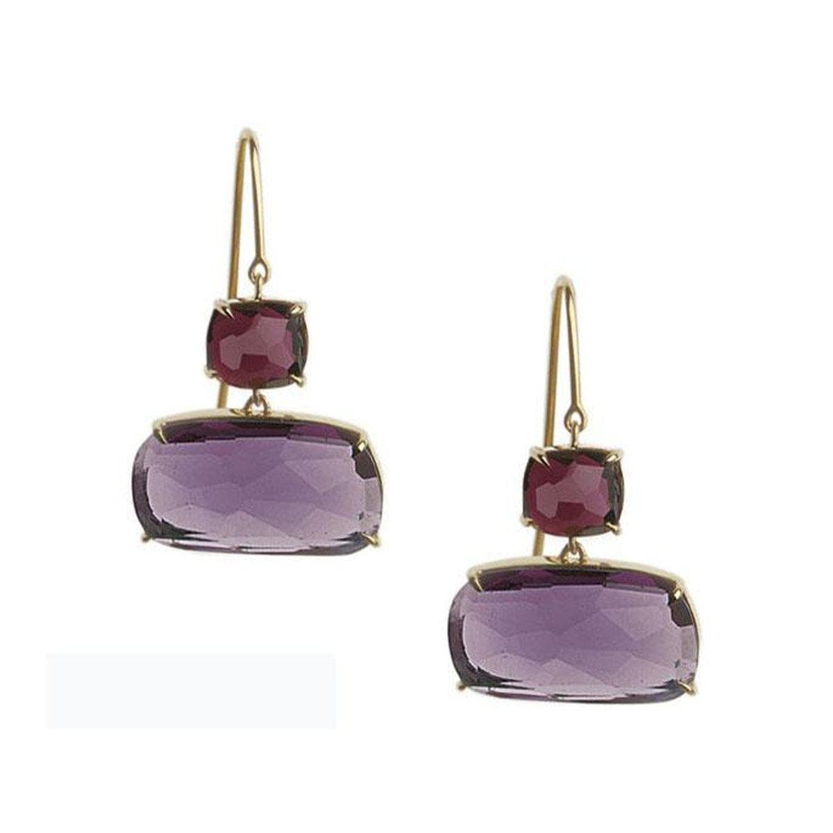 18k Murano Rhodolite Amethyst Earrings - OB1131 MIX89 Y-Marco Bicego-Renee Taylor Gallery