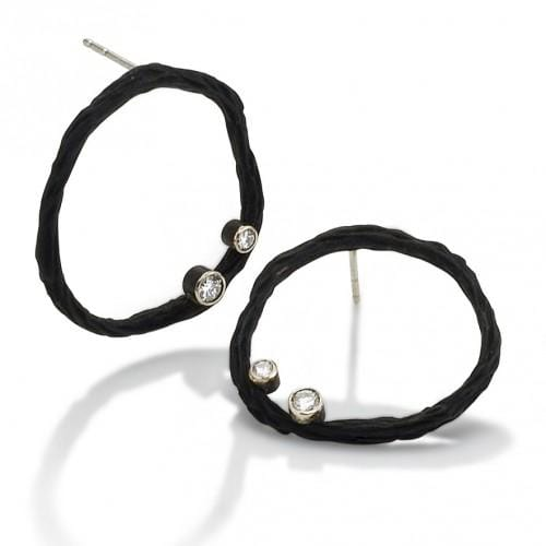 Pebbles Circle Diamond Earrings - 18 E 6-1-1 S-Sarah Graham-Renee Taylor Gallery