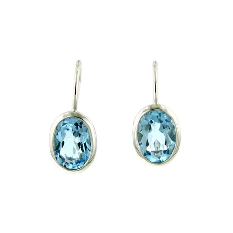 Sterling Silver Blue Topaz Earrings - 02/82617-BT-Breuning-Renee Taylor Gallery