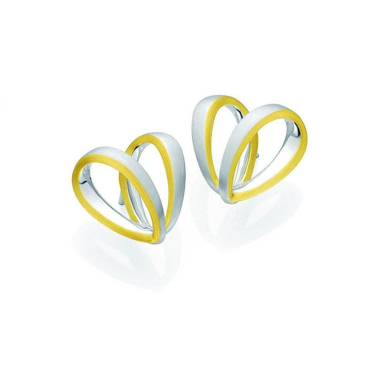 Yellow Gold & Rhodium Plated Sterling Silver Earrings - 04/03762-Breuning-Renee Taylor Gallery