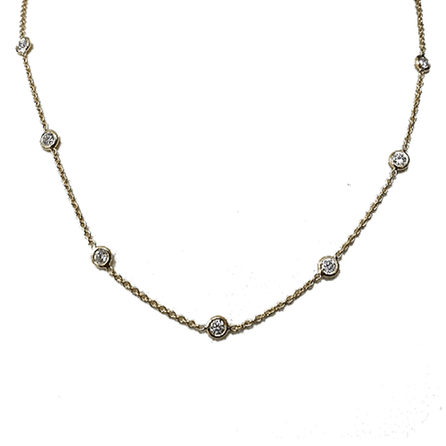 18k White Gold & Diamond Necklace - 000740AW1813-Roberto Coin-Renee Taylor Gallery