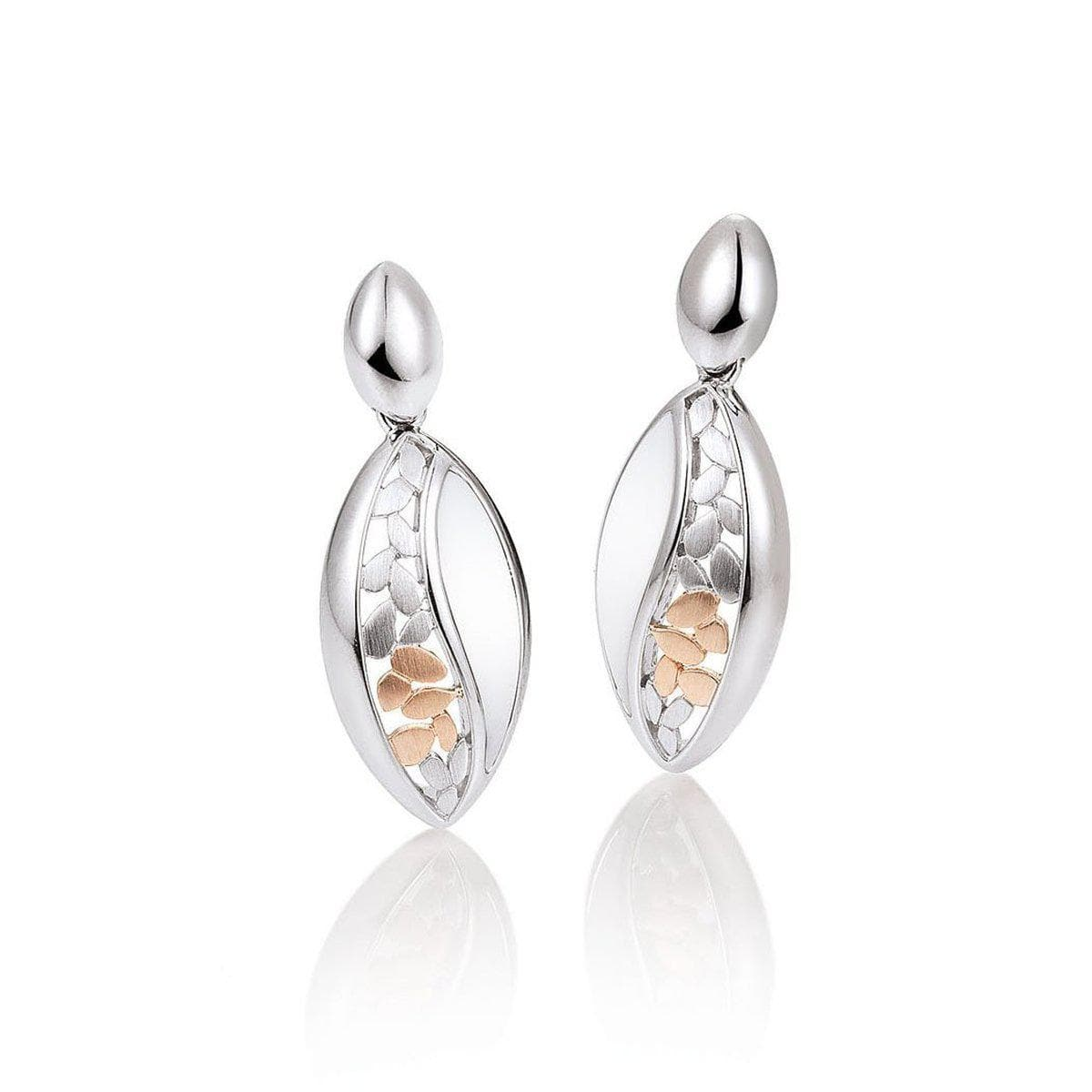 Rose Gold & Rhodium Plated Sterling Silver Earrings - 12/01996-Breuning-Renee Taylor Gallery