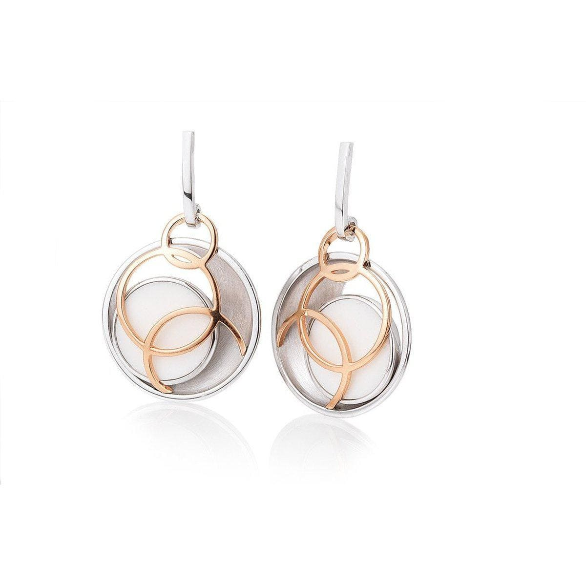 Rose Gold Plated Sterling Silver Earrings - 12/02009
